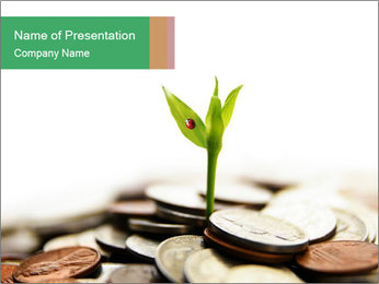 Plant Grows from Coins PowerPoint Template