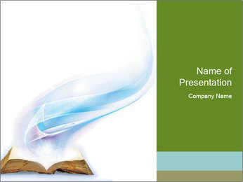 Wisdom Bible Book PowerPoint šablony
