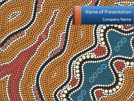 Aboriginal Dot Painting PowerPoint Template & Infographics Slides