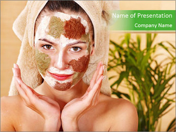 Natural Facial Mask PowerPoint Template
