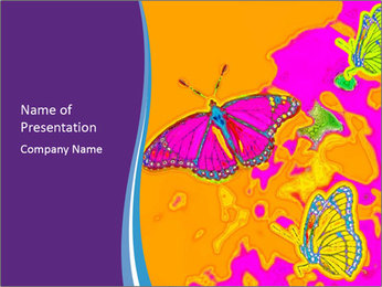Butterfly Art Painting PowerPoint Template