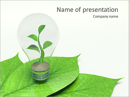 Green Idea Animated PowerPoint Template - Slide 1