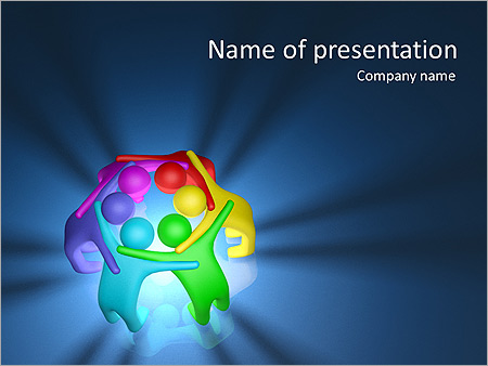 Colorful Teamwork Animated PowerPoint Template - Slide 1