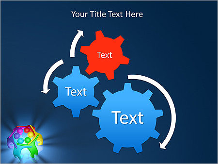 Colorful Teamwork Animated PowerPoint Template - Slide 16