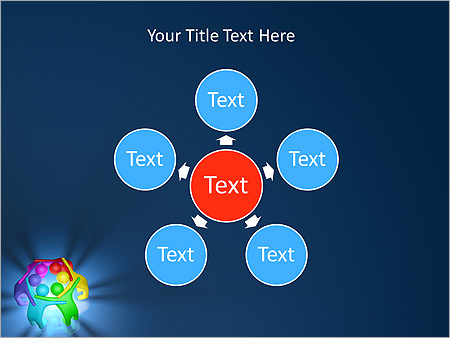 Colorful Teamwork Animated PowerPoint Template - Slide 21