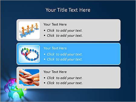 Colorful Teamwork Animated PowerPoint Template - Slide 8