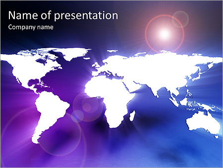 Earth Animated PowerPoint Template - Slide 1