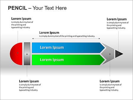 Colorful Pencil PPT Diagrams & Chart - Slide 2