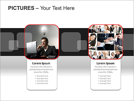 Pictures On Light PPT Diagrams & Chart - Slide 13