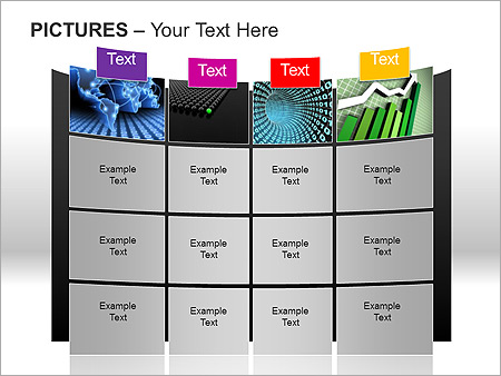Pictures On Light PPT Diagrams & Chart - Slide 3