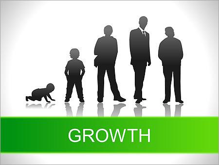Růst PPT Diagramy a grafy