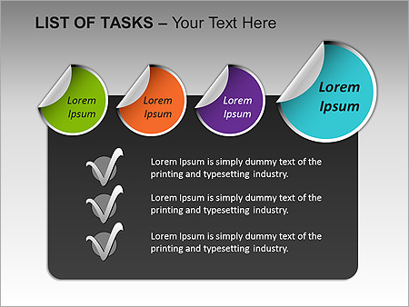 List Of Tasks PPT Diagrams & Chart - Slide 17