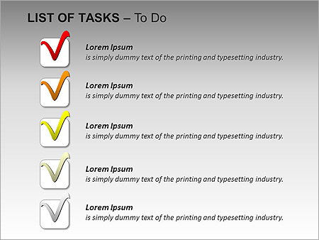List Of Tasks PPT Diagrams & Chart - Slide 8