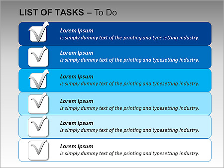 List Of Tasks PPT Diagrams & Chart - Slide 9