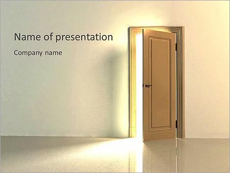 Porte en bois brun Modèles animés  PPT - Diapositives 1