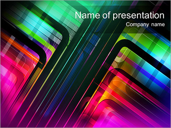 Multi-Colored Abstraction PowerPoint Template