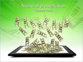 フライングドル PowerPointプレゼンテーションのテンプレート