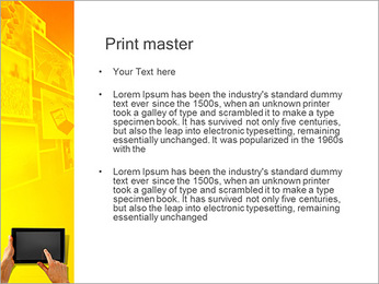 IPad On Yellow Background PowerPoint Template