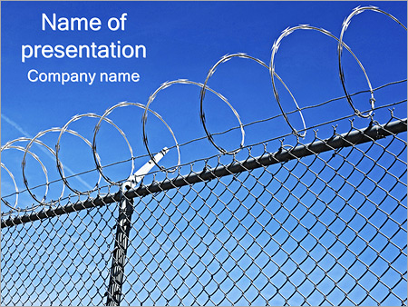 Safety Fence PowerPoint Template