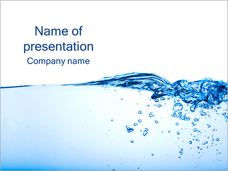 Water Image Powerpoint Template Infographics Slides
