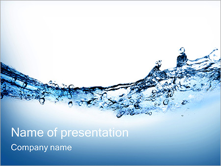 Pure Drinking Water Powerpoint Template Infographics Slides