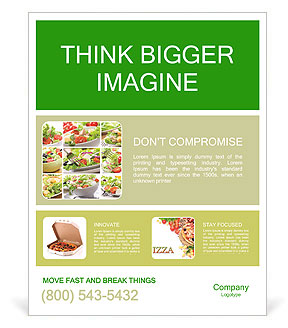 Vegetable Salad Poster Template