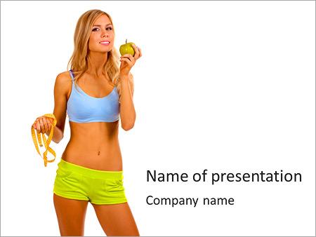 动感的年轻女子 PowerPoint演示模板