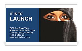 Muslim Woman Business Card Template