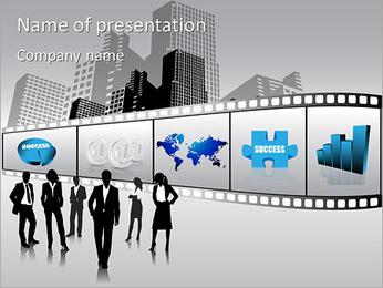 事業での成功 PowerPointプレゼンテーションのテンプレート