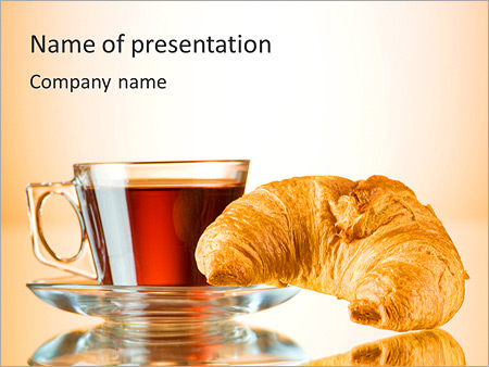 Croissant For Breakfast PowerPoint Template