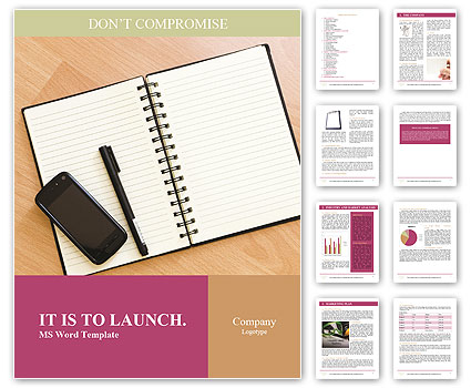 Business Notebook Word Template