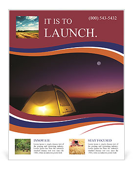 Night At Tent Flyer Template