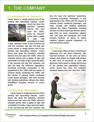 Small Green Plant Word Template - Page 3