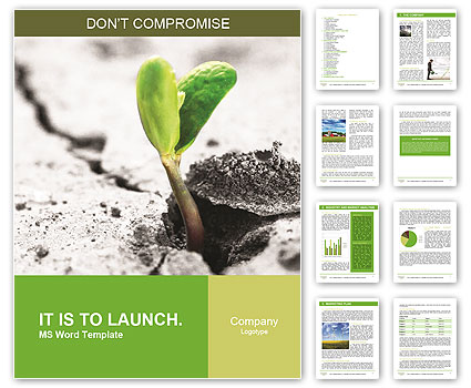 Small Green Plant Word Template
