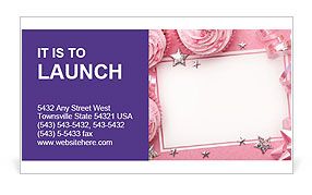 Birthday Greeting Card Business Card Template