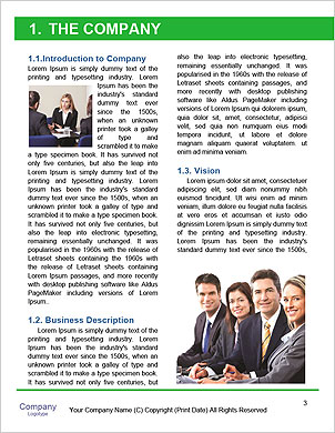 Businessman On Cloud Word Template - Page 3