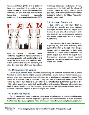 Businessman On Cloud Word Template - Page 4
