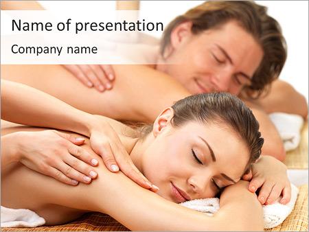 Enjoying Massage PowerPoint Template