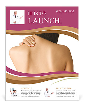 Woman Has Back Pain Flyer Template