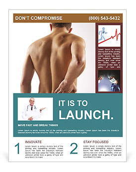 Man With Spine Pain Flyer Template
