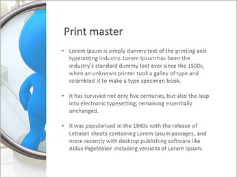 Abstract Men And Lupe PowerPoint Template