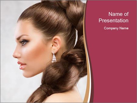 Smooth Hair Style Powerpoint Template Infographics Slides