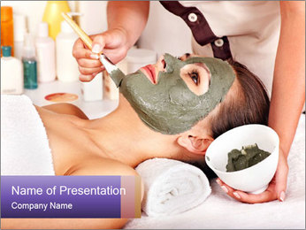 Clay Facial Mask PowerPoint Template