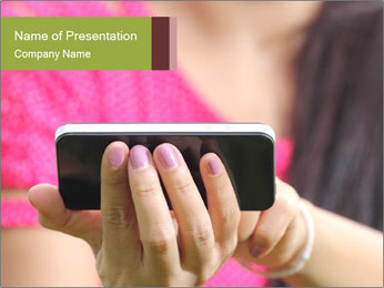 Stylish Smartphone PowerPoint Template