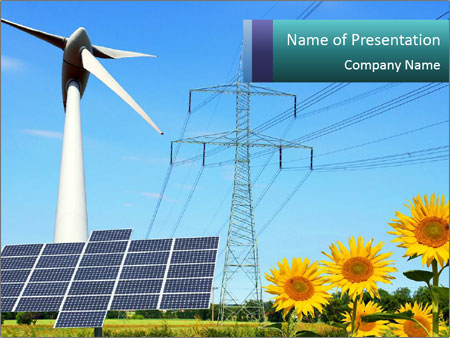 Ecologic Renewable Energy PowerPoint Template & Infographics Slides