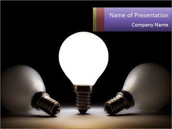 Switched on Light Bulb PowerPoint Template
