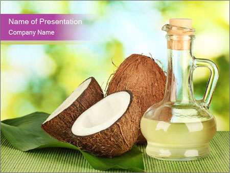 Coconut Oil PowerPoint Template & Infographics Slides