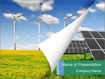 Accumulate Green Energy Plantillas de Presentaciones PowerPoint