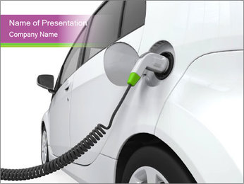 Electric Vehicle Powerpoint Template Smiletemplates Com