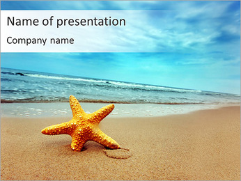 Starfish - PowerPoint Template - SmileTemplates com